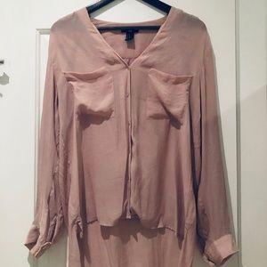Blush pink H&M long-sleeve blouse